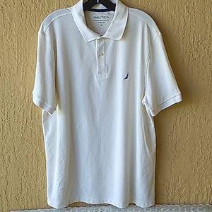 Nautica white short slv polo Sz XL